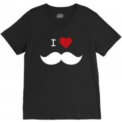 I Love Mustache V-Neck Tee | Artistshot