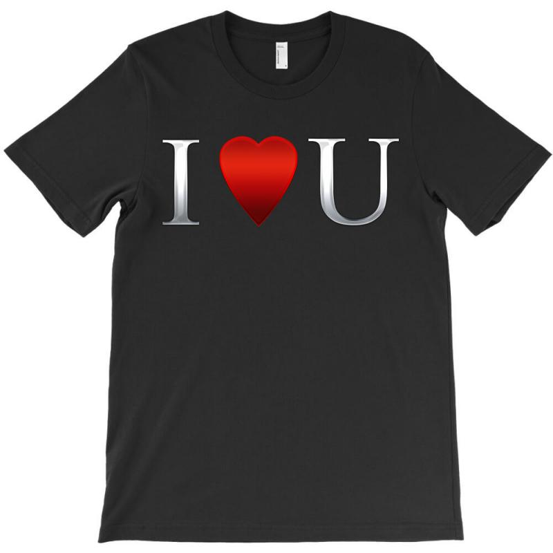 I Love U Heart T-shirt | Artistshot