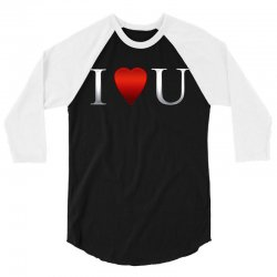 I love u heart 3/4 Sleeve Shirt | Artistshot
