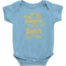 99 problems but a snitch ain't one Baby Bodysuit | Artistshot