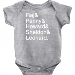 big theory list Baby Bodysuit | Artistshot