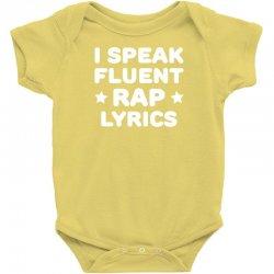 I Speak Fluent Rap Lyrics Baby Bodysuit   Artistshot