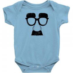 comedy fancy dress moustache funny Baby Bodysuit | Artistshot