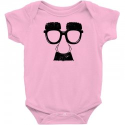 comedy fancy dress moustache funny Baby Bodysuit | Artistshot