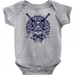 Samurai Mask and Skull Baby Bodysuit | Artistshot