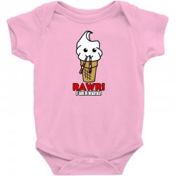 rawr i am a walrus ice cream cute Baby Bodysuit | Artistshot