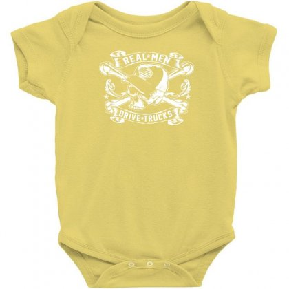 Real Men Are Truckers Baby Bodysuit Designed By Specstore