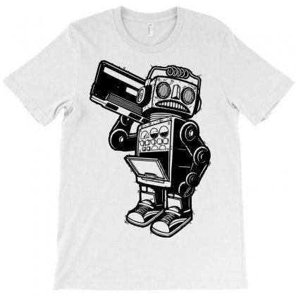 Dance Robot Music Old T-shirt Designed By Sbm052017