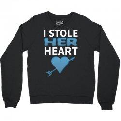 I Stole Her Heart Crewneck Sweatshirt | Artistshot