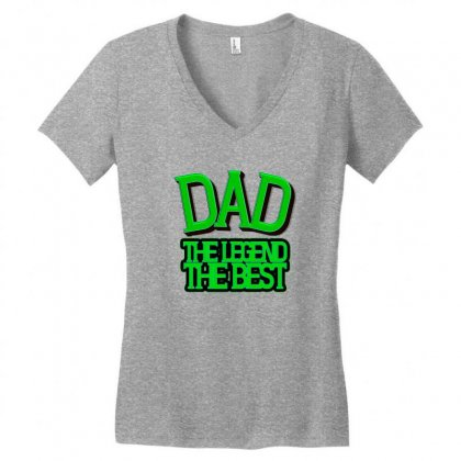 Dad Women's V-neck T-shirt Designed By Frg