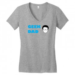 geek dad Women's V-Neck T-Shirt | Artistshot