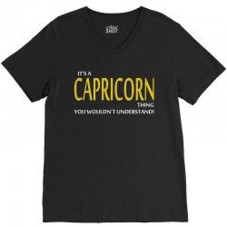 It's A Capricorn Thing V-Neck Tee   Artistshot