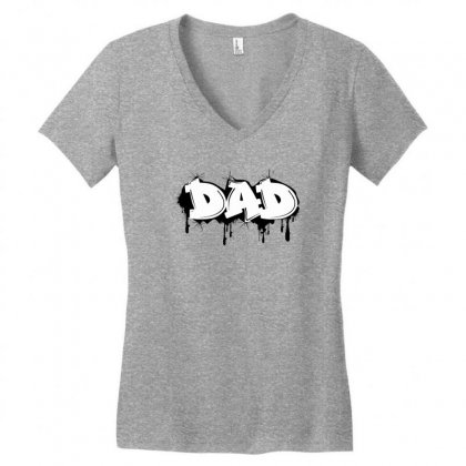 Dad Women's V-neck T-shirt Designed By Sbm052017