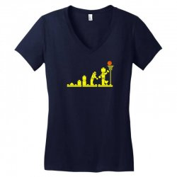 evolution lego basketball sports funny Women's V-Neck T-Shirt | Artistshot