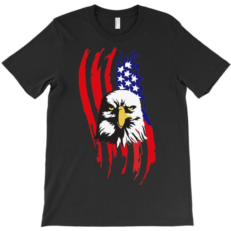 5e6e8c05a Custom American Eagle Usa Flag Head T-shirt By Sbm052017 - Artistshot