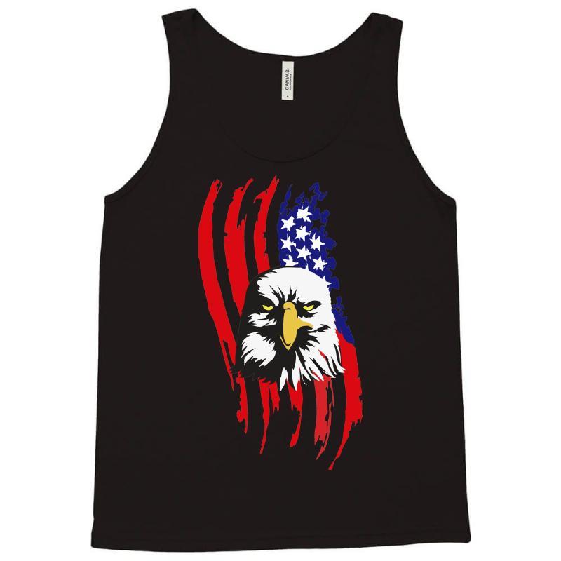 7c8a73792 Custom American Eagle Usa Flag Head Tank Top By Sbm052017 - Artistshot