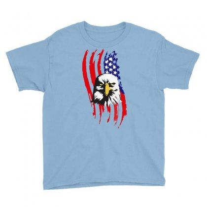 American Eagle Usa Flag Head Youth Tee Designed By Sbm052017