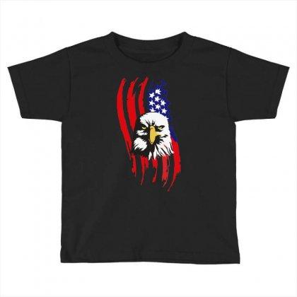 American Eagle Usa Flag Head Toddler T-shirt Designed By Sbm052017