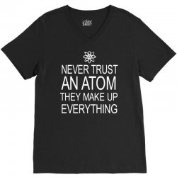 an atom V-Neck Tee | Artistshot
