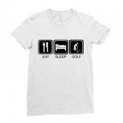 eat,sleep,golf Ladies Fitted T-Shirt | Artistshot