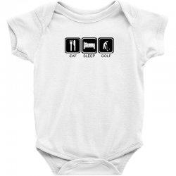 eat,sleep,golf Baby Bodysuit | Artistshot