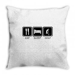 eat,sleep,golf Throw Pillow | Artistshot