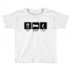 eat,sleep,golf Toddler T-shirt | Artistshot