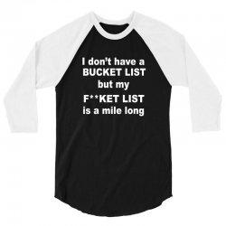fucket list 3/4 Sleeve Shirt | Artistshot
