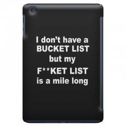 fucket list iPad Mini Case | Artistshot