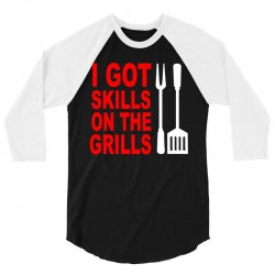 got skills on the grills apron 3/4 Sleeve Shirt | Artistshot