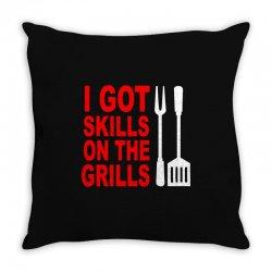 got skills on the grills apron Throw Pillow | Artistshot
