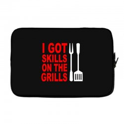 got skills on the grills apron Laptop sleeve | Artistshot
