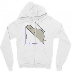 hypotenuse math humor Zipper Hoodie | Artistshot