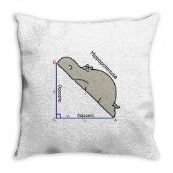 hypotenuse math humor Throw Pillow | Artistshot