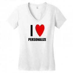 i love personalize Women's V-Neck T-Shirt | Artistshot