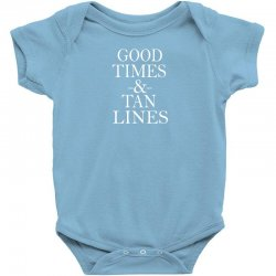 good times and tan lines Baby Bodysuit | Artistshot