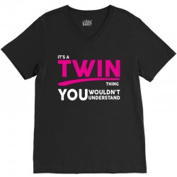 It's A Twin Thing V-Neck Tee | Artistshot