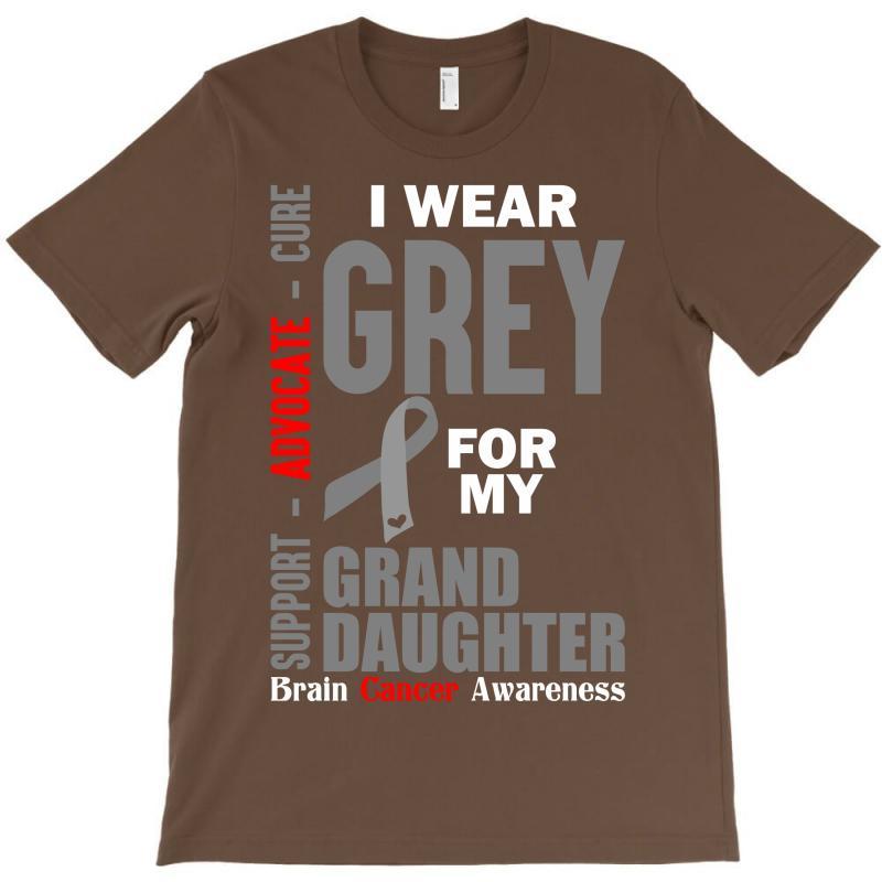 I Wear Grey For My Grand Daughter (brain Cancer Awareness) T-shirt   Artistshot