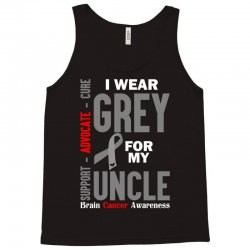 I Wear Grey For My Uncle (Brain Cancer Awareness) Tank Top | Artistshot