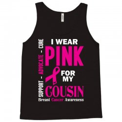 I Wear Grey For My Cousin (Brain Cancer Awareness) Tank Top | Artistshot