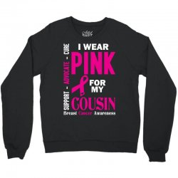I Wear Grey For My Cousin (Brain Cancer Awareness) Crewneck Sweatshirt | Artistshot