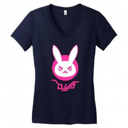 Dva Women's V-neck T-shirt Designed By Vr46