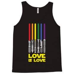Lightsaber Rainbow - Love Is Love Tank Top | Artistshot