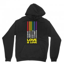 Lightsaber Rainbow - Love Is Love Unisex Hoodie | Artistshot
