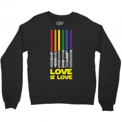 Lightsaber Rainbow - Love Is Love Crewneck Sweatshirt | Artistshot