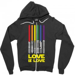 Lightsaber Rainbow - Love Is Love Zipper Hoodie | Artistshot