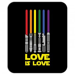 Lightsaber Rainbow - Love Is Love Mousepad | Artistshot