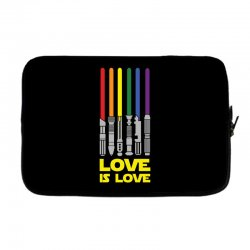 Lightsaber Rainbow - Love Is Love Laptop sleeve | Artistshot