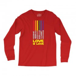 Lightsaber Rainbow - Love Is Love Long Sleeve Shirts | Artistshot