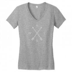 compas Women's V-Neck T-Shirt   Artistshot